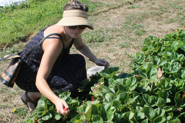 Clare picking