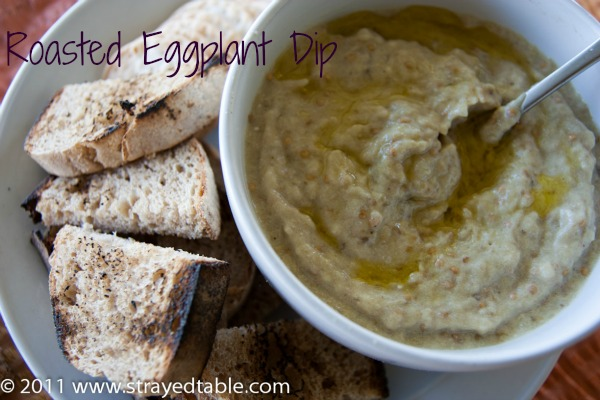 strayedtable Roasted eggplant dip