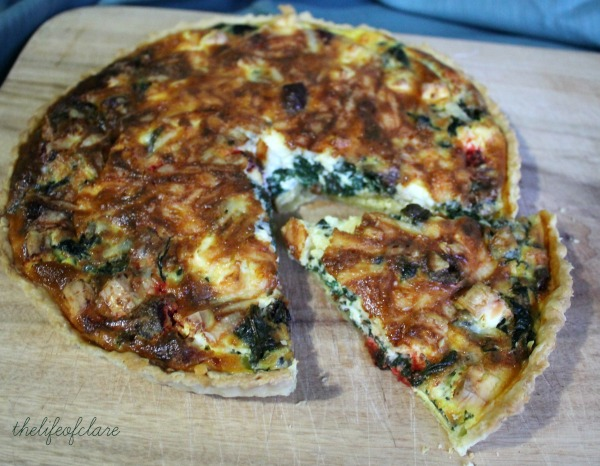 feta and spinach quiche