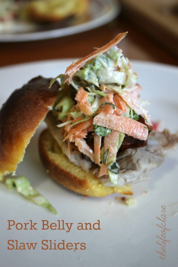 Pork Belly and Slaw Sliders