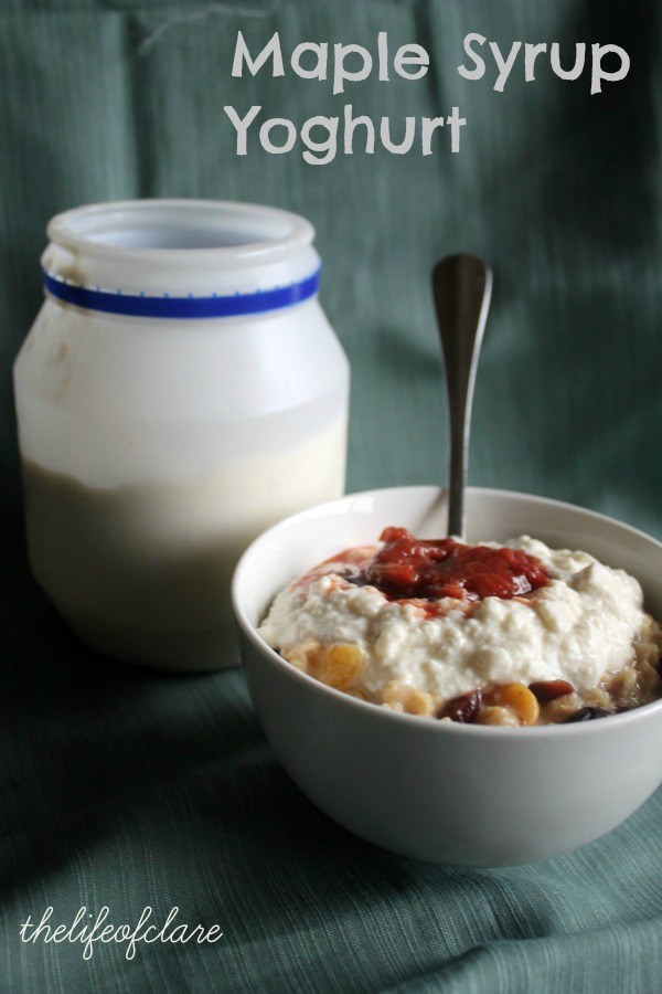 yoghurt on oats
