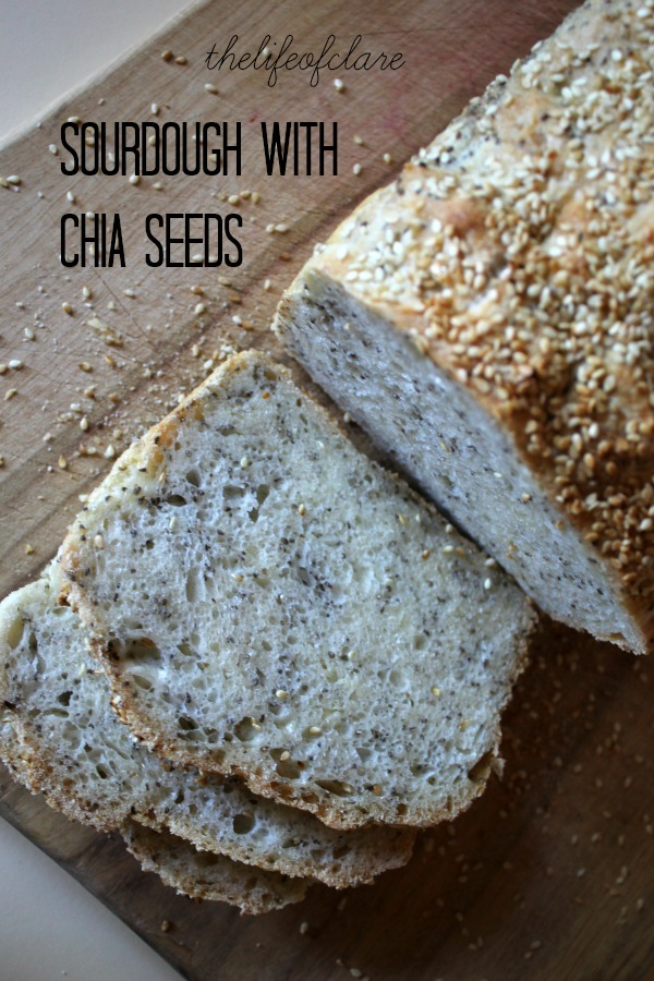sliced white sourdough chia seeds