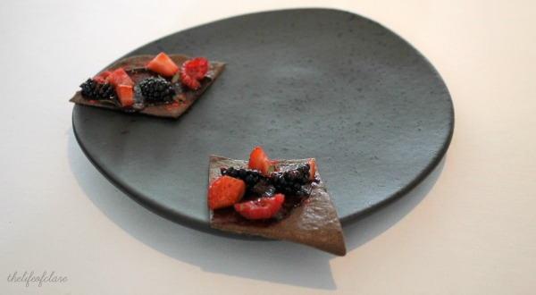 Brae Restaurant Blood Biscuit and Berries