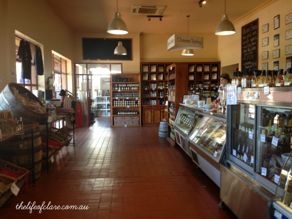 inside Milawa cheese factory