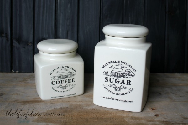 Maxwell and Williams coffee and sugar jar