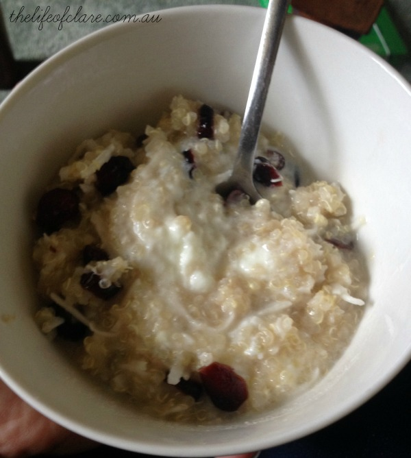 quinoa cranberry porridge
