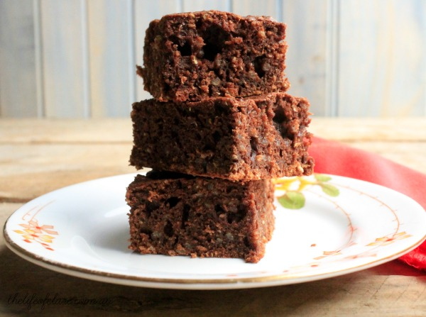 chocolate quinoa brownie