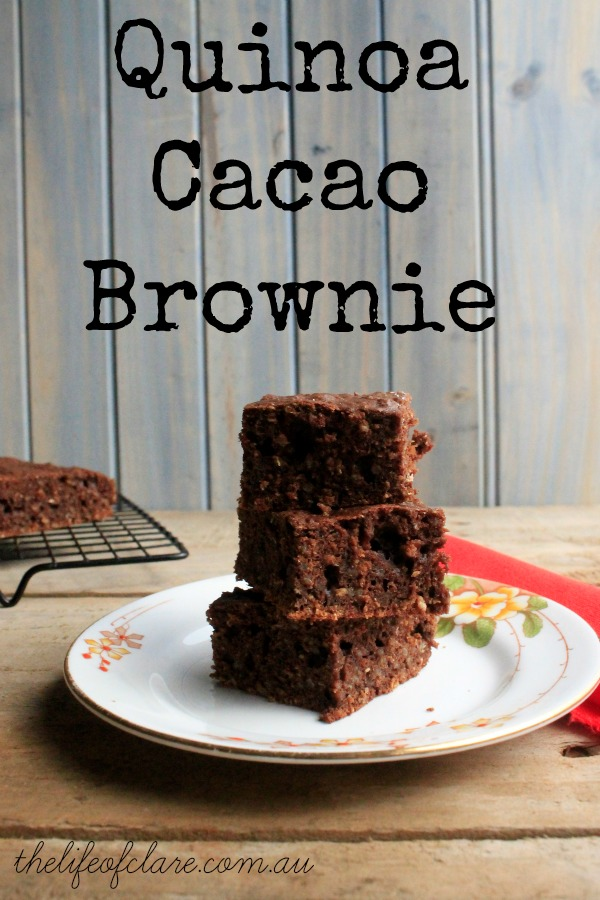 Quinoa and cacao brownie