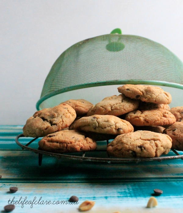 peanut and chocolate chip cookies