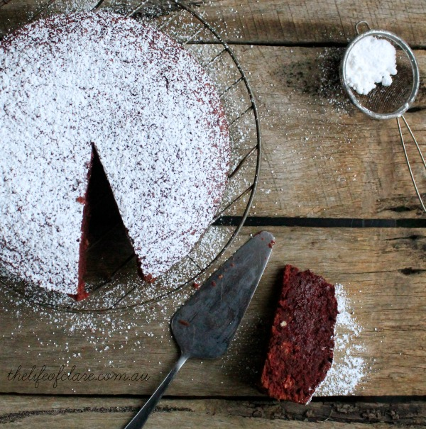 beetroot and choc cake