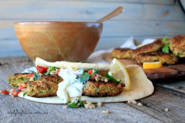 falafel with tabouli and yoghurt