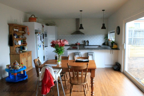 kitchen from living