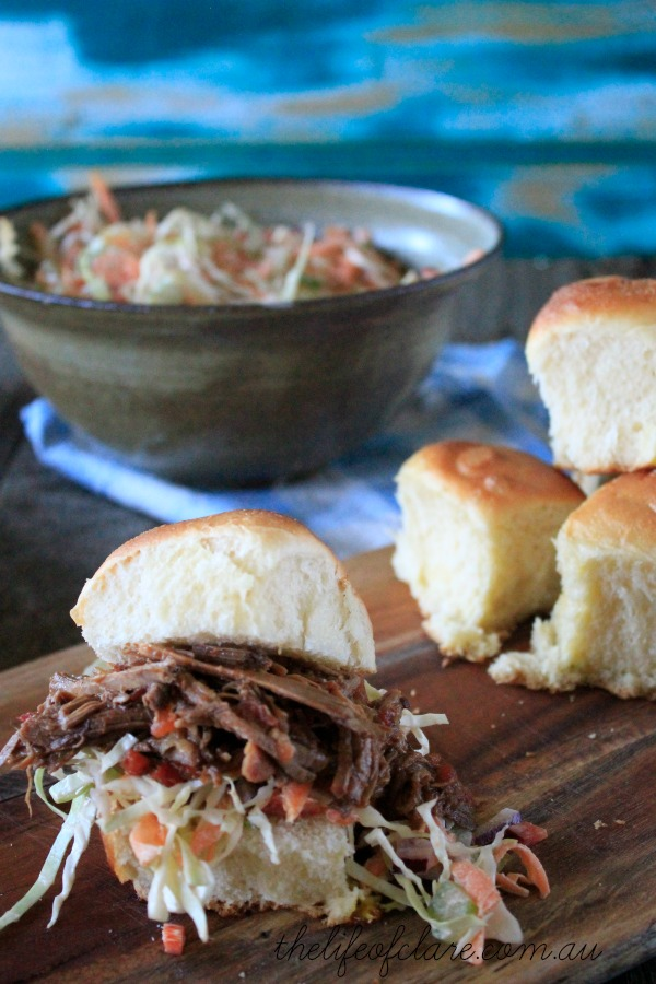 coleslaw with pulled beef