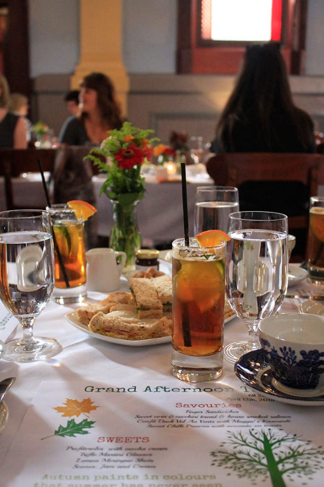 pimms and sandwiches