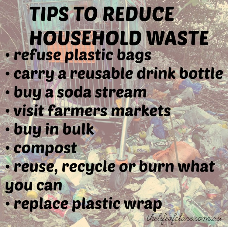 reduce household waste tips
