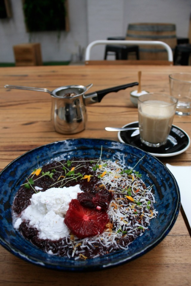 King of the Castle black rice pudding