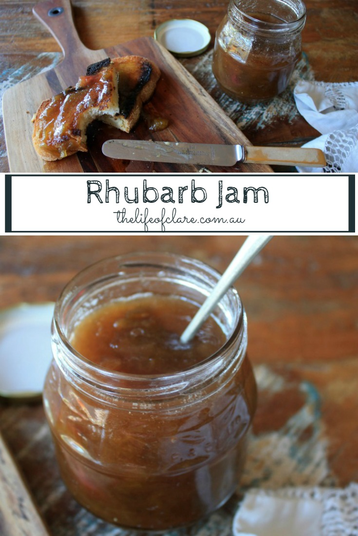 Delicious easy seasonal Rhubarb jam
