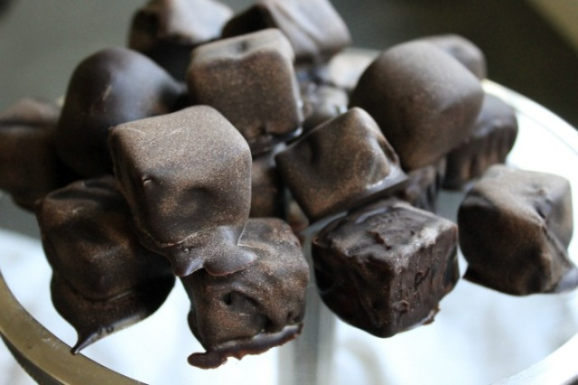 Raw chocolate covered turkish delight