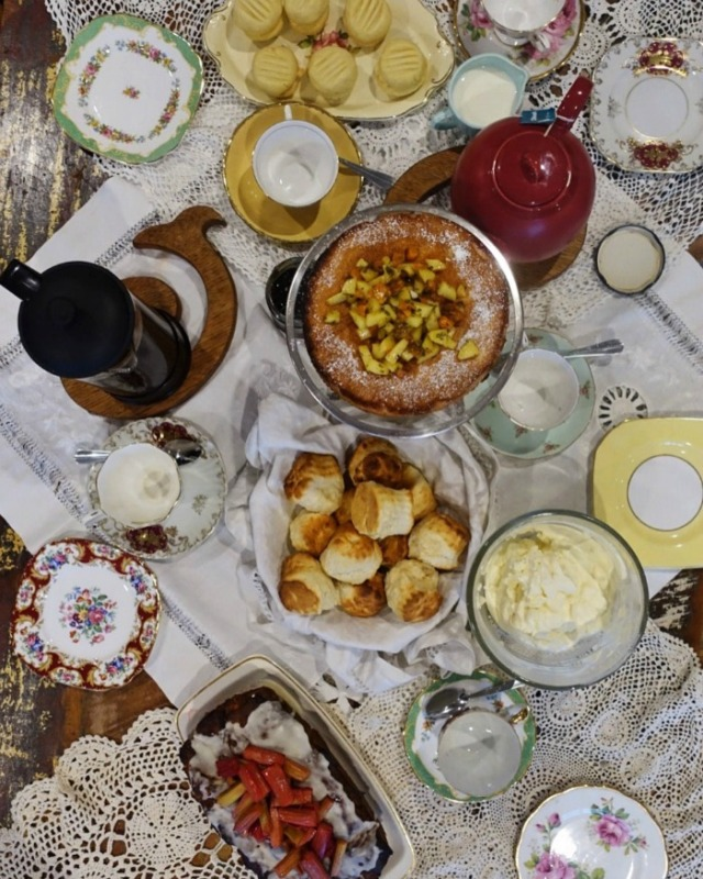 high tea spread