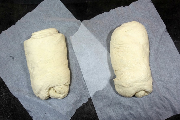 loaves on baking paper