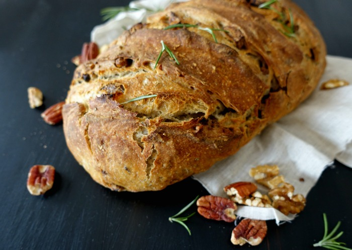 Nut and rosemary sourdough